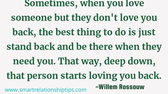 someone but they don't love you