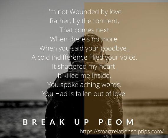 The reason of breakup