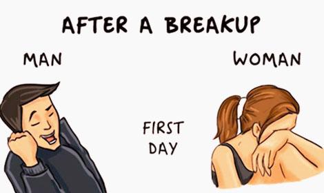 Girl Vs Guy After Breakup