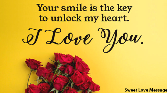 Best sweet love message for her